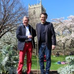 Bristol Mayor George Ferguson with 'One Tree Per Child' co-founder Jon Dee.