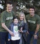 Olivia Newton-John, Estelle and Jon Dee, together with Pat Cash at the first 'One Tree Per Child' planting at the Isis Education Centre in Hyde Park, London.