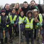At the first 'One Tree Per Child' planting in Avonmouth Bristol.